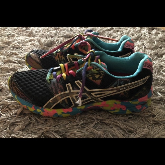 Details about Asics Gel Noosa Tri 8 Running Shoes Black Multi Confetti US Womens 6.5 Mens 5